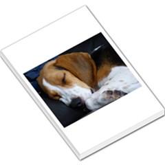 Beagle Sleeping Large Memo Pads by TailWags