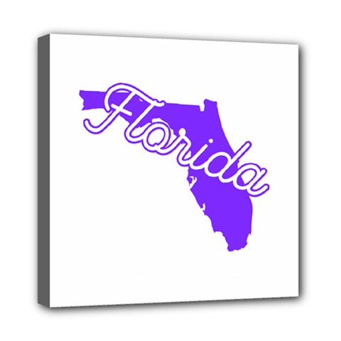 Florida Home State Pride Mini Canvas 8  X 8