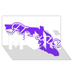 FLorida Home State Pride MOM 3D Greeting Card (8x4)  by CraftyLittleNodes