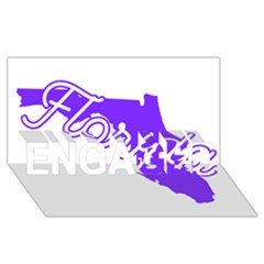 Florida Home State Pride Engaged 3d Greeting Card (8x4)