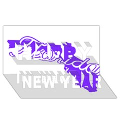 Florida Home State Pride Happy New Year 3d Greeting Card (8x4)  by CraftyLittleNodes