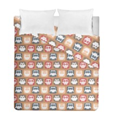 Colorful Whimsical Owl Pattern Duvet Cover (Twin Size) by creativemom