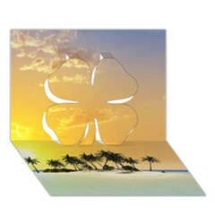 Beautiful Island In The Sunset Clover 3d Greeting Card (7x5)