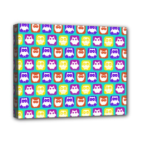 Colorful Whimsical Owl Pattern Canvas 10  X 8  by creativemom