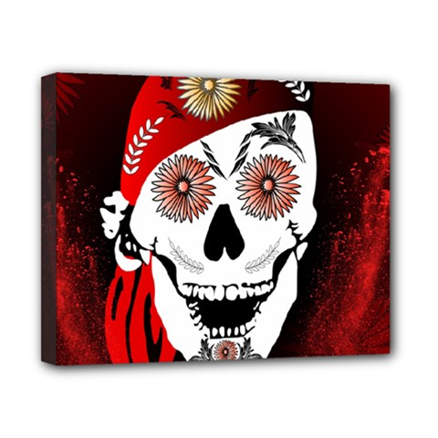 Funny Happy Skull Canvas 10  X 8  by FantasyWorld7