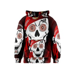 Funny Happy Skull Kid s Pullover Hoodies by FantasyWorld7
