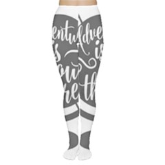 Adventure Is Out There Women s Tights by CraftyLittleNodes