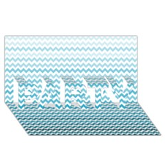 Perfectchevron Party 3d Greeting Card (8x4)