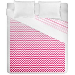 Pink Gradient Chevron Duvet Cover (double Size) by CraftyLittleNodes