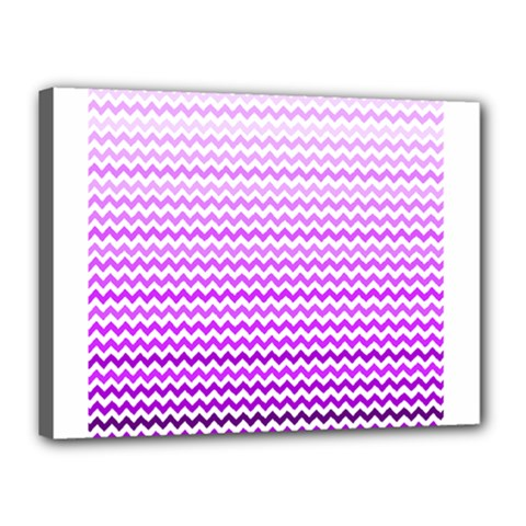 Purple Gradient Chevron Canvas 16  X 12  by CraftyLittleNodes