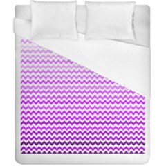 Purple Gradient Chevron Duvet Cover Single Side (Double Size) by CraftyLittleNodes