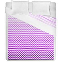 Purple Gradient Chevron Duvet Cover (double Size) by CraftyLittleNodes