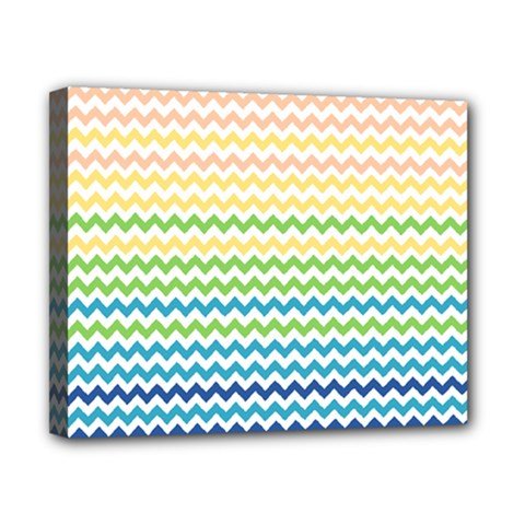Pastel Gradient Rainbow Chevron Canvas 10  X 8  by CraftyLittleNodes