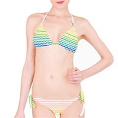 Pastel Gradient Rainbow Chevron Bikini Set by CraftyLittleNodes
