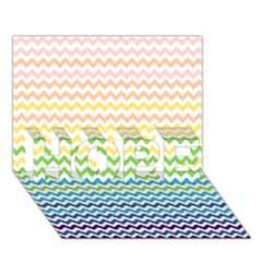 Pastel Gradient Rainbow Chevron Hope 3d Greeting Card (7x5)