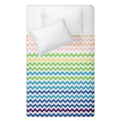 Pastel Gradient Rainbow Chevron Duvet Cover (single Size) by CraftyLittleNodes