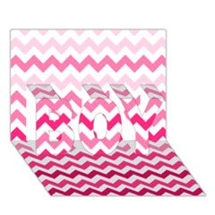 Pink Gradient Chevron Large Boy 3d Greeting Card (7x5)