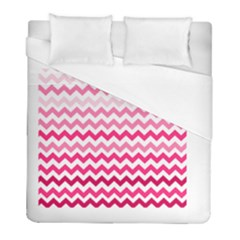 Pink Gradient Chevron Large Duvet Cover Single Side (twin Size) by CraftyLittleNodes