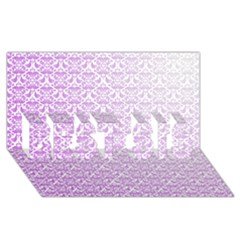 Purple Damask Gradient Best Sis 3d Greeting Card (8x4)