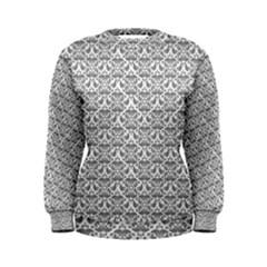 Gray Damask Women s Sweatshirts