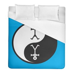 Yin And Yang Icon  Duvet Cover Single Side (twin Size) by thisisnotme