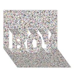 Crowd Icon Random Cmyk Boy 3d Greeting Card (7x5)