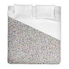 Crowd Icon Random Cmyk Duvet Cover Single Side (twin Size) by thisisnotme