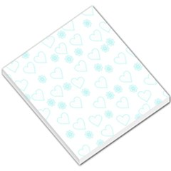 Flowers And Hearts Small Memo Pads by MoreColorsinLife