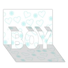 Flowers And Hearts Boy 3d Greeting Card (7x5)