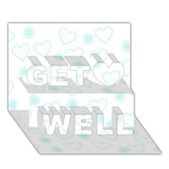 Flowers And Hearts Get Well 3d Greeting Card (7x5)