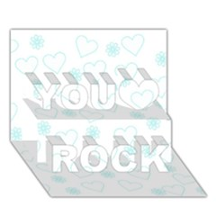 Flowers And Hearts You Rock 3d Greeting Card (7x5)