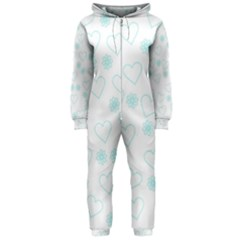 Flowers And Hearts Hooded Jumpsuit (ladies)