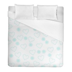Flowers And Hearts Duvet Cover Single Side (twin Size) by MoreColorsinLife