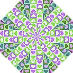 Hearts Plaid Purple Straight Umbrellas by MoreColorsinLife