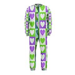 Hearts Plaid Purple Onepiece Jumpsuit (kids) by MoreColorsinLife