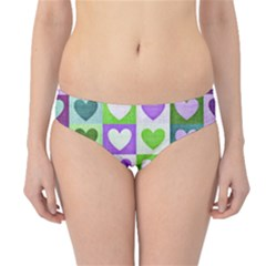Hearts Plaid Purple Hipster Bikini Bottoms by MoreColorsinLife