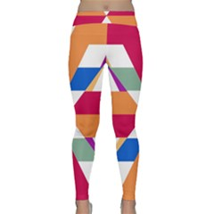 Shapes In Triangles Yoga Leggings