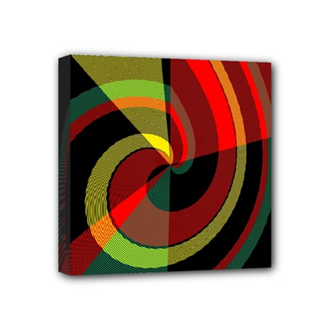 Spiral Mini Canvas 4  X 4  (stretched) by LalyLauraFLM