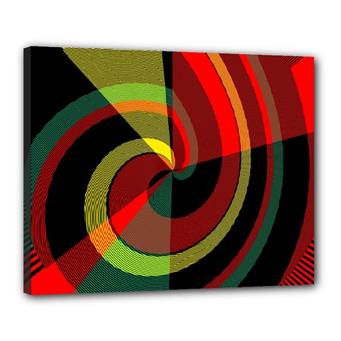 Spiral Canvas 20  X 16  (stretched) by LalyLauraFLM