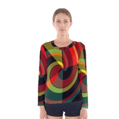 Spiral Women Long Sleeve T-shirt by LalyLauraFLM