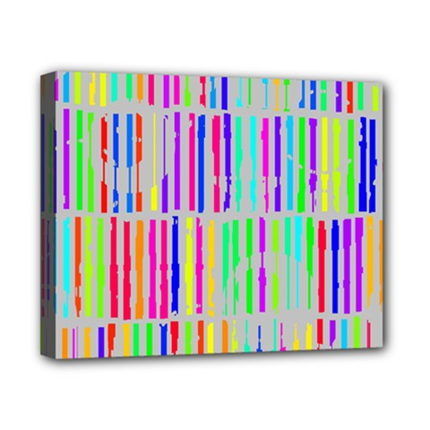 Colorful Vintage Stripes Canvas 10  X 8  (stretched) by LalyLauraFLM