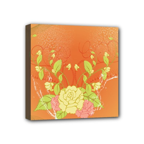 Beautiful Flowers In Soft Colors Mini Canvas 4  X 4  by FantasyWorld7