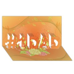 Beautiful Flowers In Soft Colors #1 Dad 3d Greeting Card (8x4)