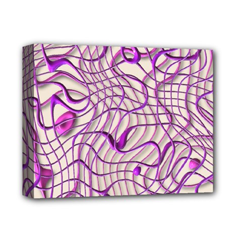 Ribbon Chaos 2 Lilac Deluxe Canvas 14  X 11  by ImpressiveMoments