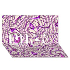 Ribbon Chaos 2 Lilac Hugs 3d Greeting Card (8x4)