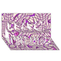 Ribbon Chaos 2 Lilac Best Wish 3d Greeting Card (8x4)  by ImpressiveMoments