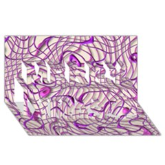 Ribbon Chaos 2 Lilac Merry Xmas 3d Greeting Card (8x4)  by ImpressiveMoments