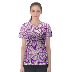 Ribbon Chaos 2 Lilac Women s Sport Mesh Tees by ImpressiveMoments