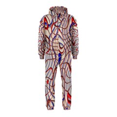 Ribbon Chaos 2 Red Blue Hooded Jumpsuit (Kids) by ImpressiveMoments