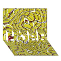 Ribbon Chaos 2 Yellow Hope 3d Greeting Card (7x5)